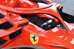 Detalle de la cabina del Ferrari SF71H
