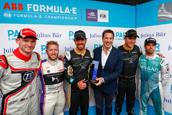 Julius Baer Pole award goes to Jean-Eric Vergne, Techeetah with Maro Engel, Venturi Formula E Team, Sam Bird, DS Virgin Racing, Andre Lotterer, Techeetah, Antonio Felix da Costa, Andretti Formula E Team