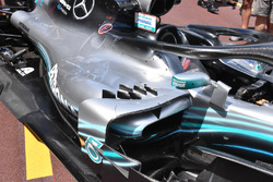 Mercedes-AMG F1 W09 pontones laterales