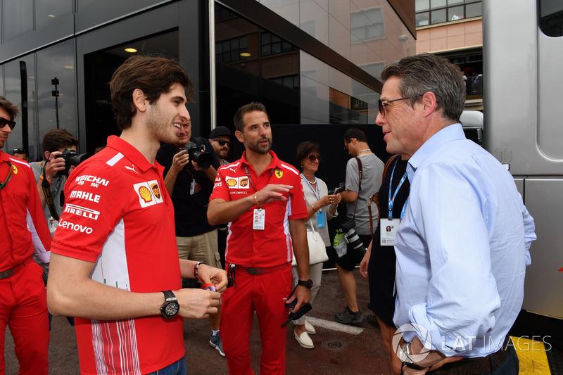 Antonio Giovinazzi, Ferrari e Hugh Grant