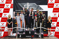GT4 podium celebrations