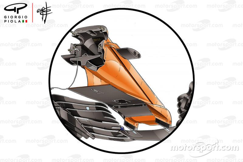 McLaren MCL33 voorvleugel, GP van Spanje