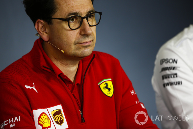 Mattia Binotto, Chief Technical Officer, Ferrari, in the Press Conference