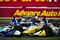 Takuma Sato, Rahal Letterman Lanigan Racing Honda, Charlie Kimball, Carlin Chevrolet
