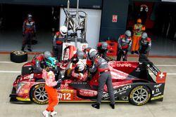 Nelsinho Piquet e Nick Heidfeld na troca de pilotos em Silverstone