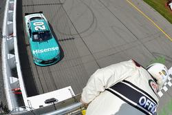Erik Jones, Joe Gibbs Racing Toyota winner Heat #1
