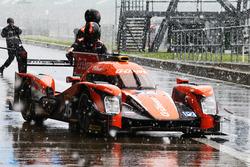 Roman Rusinov, Nathanael Berthon, Rene Rast, #26 G-Drive Racing Oreca 05 Nissan durant une averse de neige