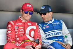 Scott Dixon, Chip Ganassi Racing, Chevrolet; Tony Kanaan, Chip Ganassi Racing, Chevrolet
