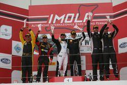 Podio Gara 1 GTCup: Del Prete-Caso, Victoria Speed M, Zanardini-Sauto, Duell Race, Davide Roda, Petr