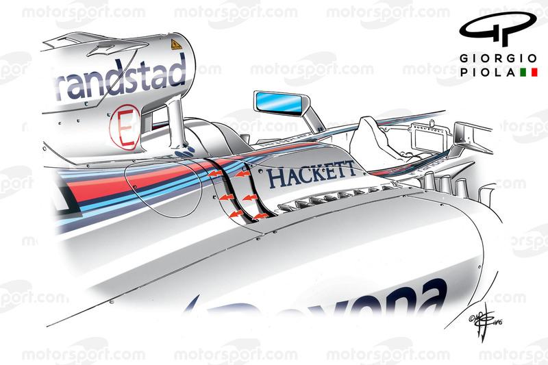 Williams FW38: Seitliche Luftauslässe, Grand Prix von Monaco
