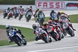 Sylvain Guintoli, Pata Yamaha; Nicky Hayden, Honda World Superbike Team