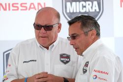 Jacques Deshaies, promoter, Didier Marsaud, Senior Manager, Corporate Communications Nissan Canada