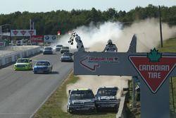Unfall: John Hunter Nemechek, NEMCO Motorsports, Chevrolet; Cole Custer, JR Motorsports, Chevrolet