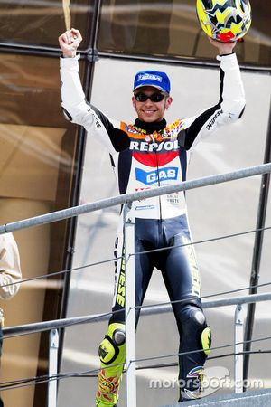 Podium: second place Valentino Rossi, Repsol Honda Team