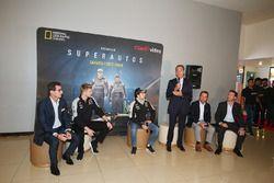 Nico Hulkenberg, Sahara Force India F1; Sergio Perez, Sahara Force India F1; Carlos Slim Domit, Chai