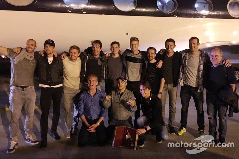Jenson Button, Nico Rosberg, Jean-Eric Vergne, Max Verstappen, Nico Hulkenberg, Paul di Resta, Alexander Wurz, David Coulthard, Felipe Massa e Esteban Gutierrez
