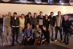 Jenson Button, McLaren-Honda; Nico Rosberg, Mercedes; Jean-Eric Vergne; Max Verstappen, Red Bull Racing; Nico Hülkenberg, Force India F1 Team; Paul di Resta; Alexander Wurz; David Coulthard; Felipe Massa, Williams; Esteban Gutierrez, Haas F1 Team
