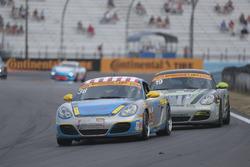 #36 Strategic Wealth Racing Porsche Cayman: Matthew Dicken, Corey Lewis, #19 RS1 Porsche Cayman: Greg Strelzoff, Connor Bloum