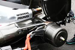 La suspension arrière renforcée de la Mercedes AMG F1 W07 Hybrid