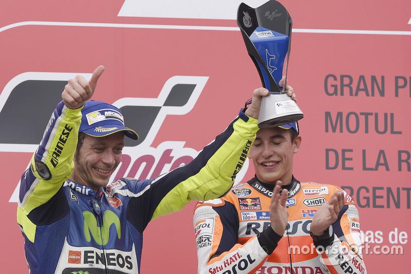 En 2016 Rossi logró subir de nuevo al podio y hacer segundo, por detrás de Márquez