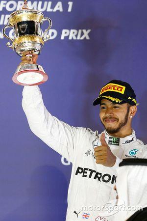 Podio: terzo posto Lewis Hamilton, Mercedes AMG F1 Team