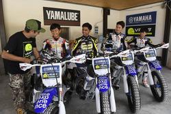 Des participants au Yamaha VR46 Master Camp au Ranch