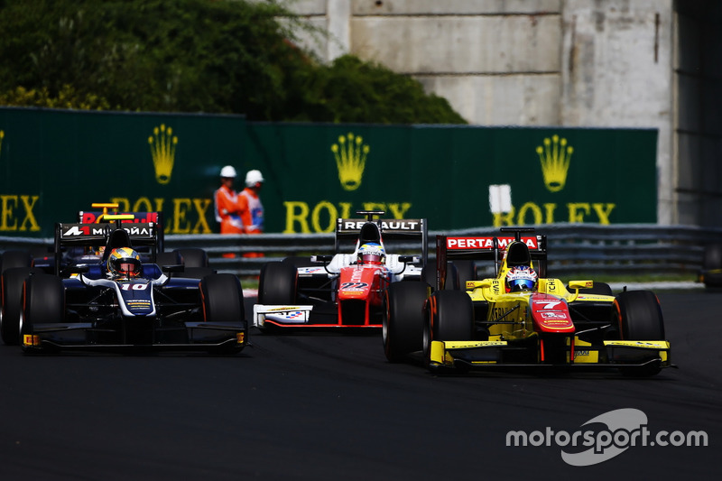 Mitch Evans, Pertamina Campos Racing Artem Markelov, RUSSIAN TIME and Oliver Rowland, MP Motorsport