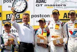 Podium: Sieger #17 KÜS TEAM 75 Bernhard, Porsche 911 GT3 R: David Jahn, Kévin Estre