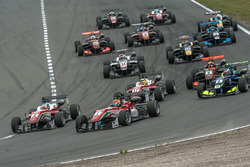Race Start, Nick Cassidy, Prema Powerteam Dallara F312 - Mercedes-Benz, Lance Stroll, Prema Powertea