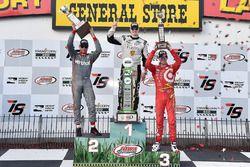 Podium: Sieger Josef Newgarden, Ed Carpenter Racing, Chevrolet; 2. Will Power, Team Penske, Chevrole