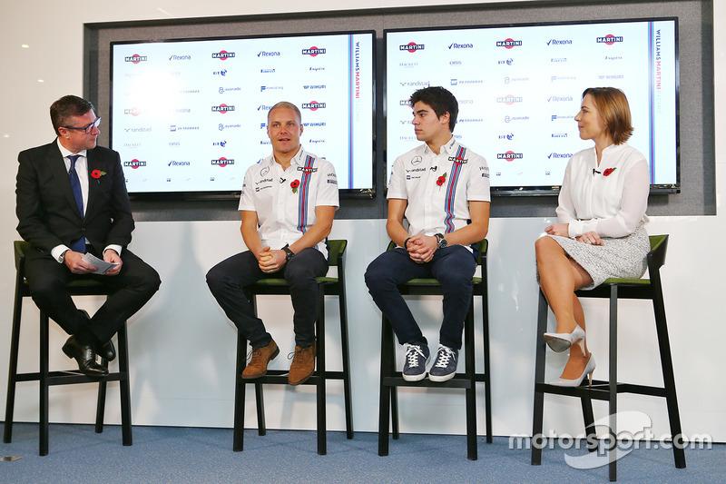 David Croft, Sky Sports Commentator, Valtteri Bottas, Lance Stroll, Claire Williams, jefa del Williams Team