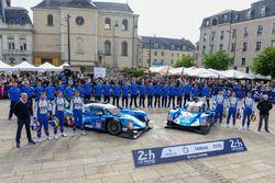 #36 Signatech Alpine A460: Gustavo Menezes, Nicolas Lapierre, Stéphane Richelmi, #35 Baxi DC Racing Alpine A460 Nissan: David Cheng, Ho-Pin Tung, Nelson Panciatici