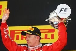 Kimi Raikkonen, Ferrari celebra en el podium