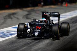 Fernando Alonso, McLaren MP4-31 in the pit lane
