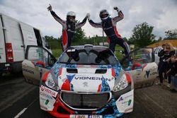 Winners Quentin Giordano, Thierry Salva, Sébastien Loeb Racing, Peugeot 208 T16