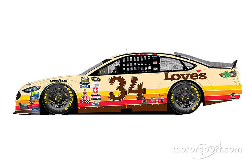 Throwback-Design von Chris Buescher, Front Row Motorsports, Ford