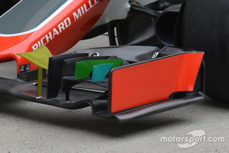 Haas F1 Team VF-16, Frontflügel-Detail