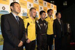 Kevin Magnussen, Sun Yue Yang et Jolyon Palmer