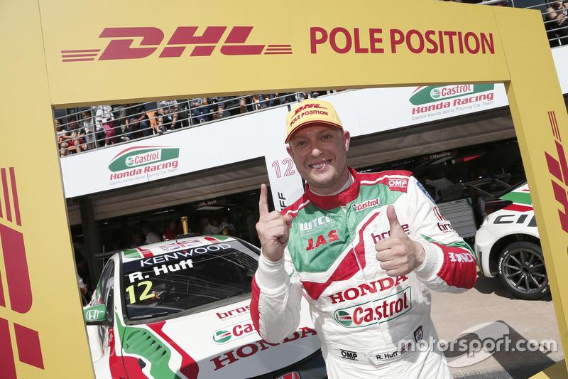 Polesitter Rob Huff, Honda Racing Team JAS, Honda Civic WTCC
