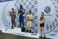 Podium: race winner Prashanth Tharani