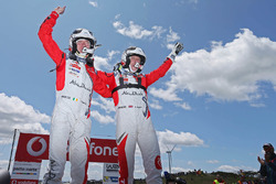 Les vainqueurs Kris Meeke, Paul Nagle, Citroën DS3 WRC, Abu Dhabi Total World Rally Team