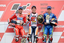 Podium: race winner Marc Marquez, Repsol Honda Team, second place Andrea Dovizioso, Ducati Team, thi