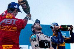 Podium: Winner Sam Bird, DS Virgin Racing Formula E Team; second place Sébastien Buemi, Renault e.Dams; thrid place Lucas di Grassi, ABT Schaeffler Audi Sport