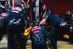 Red Bull Racing beim Boxenstopptraining