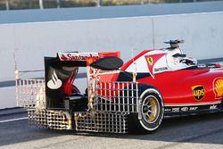 Kimi Räikkönen, Ferrari SF16-H, mit Messgeräten am Heckflügel