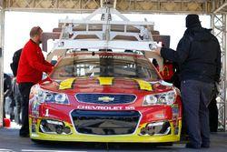 Jamie McMurray, Chip Ganassi Racing Chevrolet, bei der technischen Abnahme