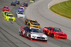 Paul Menard, Team Penske, Ford Mustang Discount Tire and Justin Allgaier, JR Motorsports, Chevrolet Camaro BRANDT