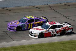 Ryan Truex, Kaulig Racing, Chevrolet Camaro Phantom Fireworks and Cole Custer, Stewart-Haas Racing, Ford Mustang Haas Automation