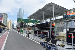 Red Bull Racing pit lane gantry