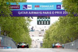 Лукас ди Грасси, Audi Sport ABT Schaeffler, и Ма Циньхуа, NIO Formula E Team